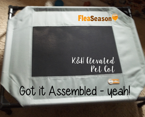 Assembled K&H elevated pet cot bed