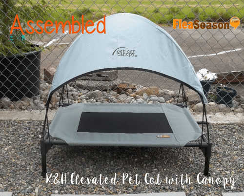 K&H elevated pet cot bed for dogs and cats