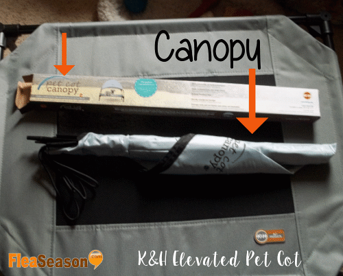 Assembling the K&H pet cot bed with canopy.