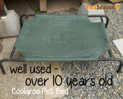 well used Coolaroo pet cot bed