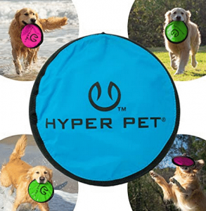 Hyper Pet Floppy Flipper Dog Frisbee is lightweight and waterproof.