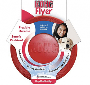 Kong dog frisbee for fun and exercise.