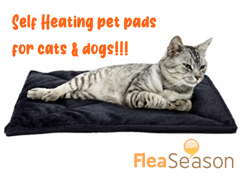 Self heating pet pad for cats and dogs, indoor and outdoor use.